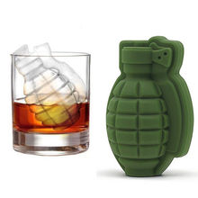 1pcs 3D Ice Buckets Cube Mold Grenade Shape Cream Maker Bar Drinks Whiskey Wine Silicone Kitchen Tool