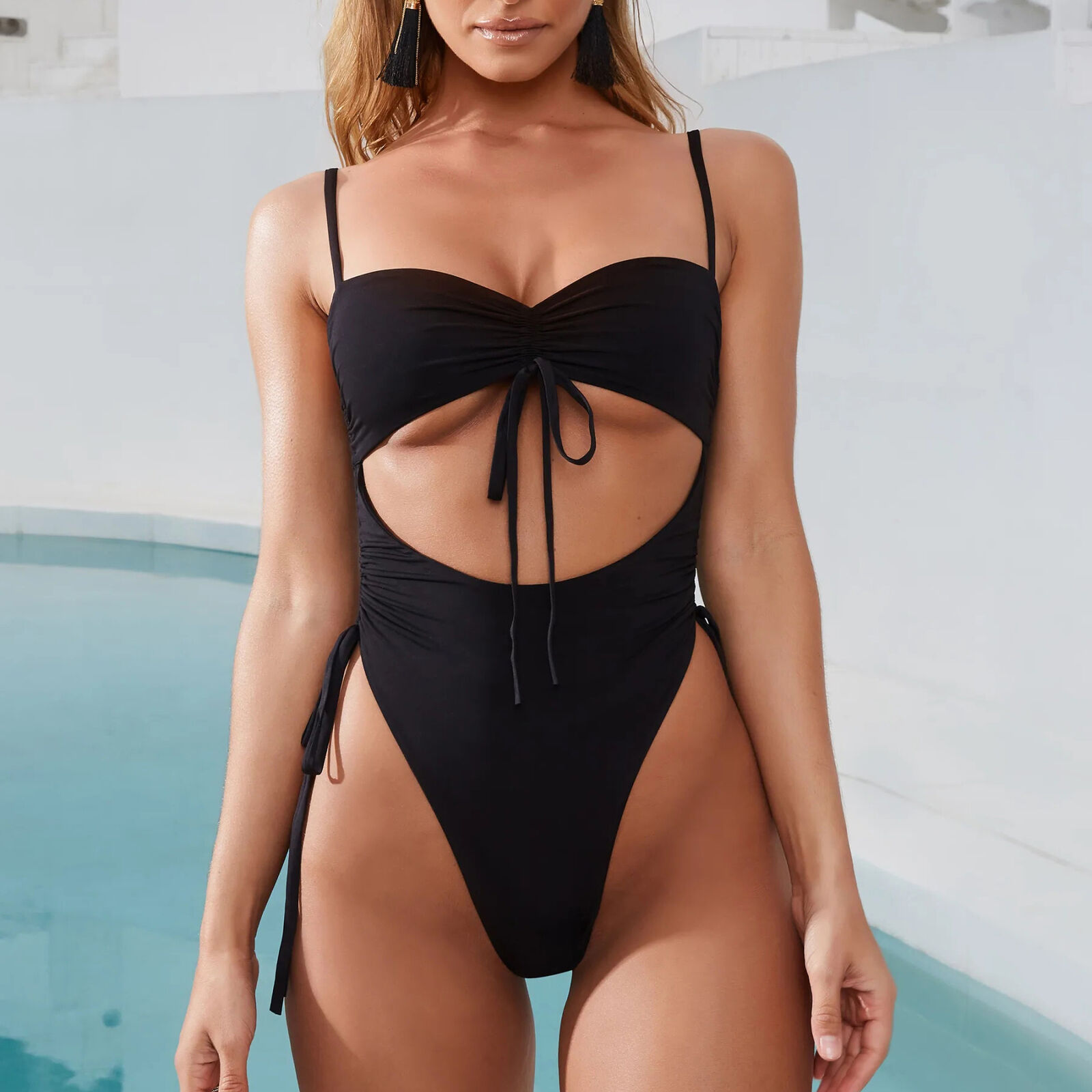 Brand Bikini 2019 Hot Sale Womens One Piece Gradient Swimsuit Hollow Monokinis Swimwear Swimming Costume  Biquinis