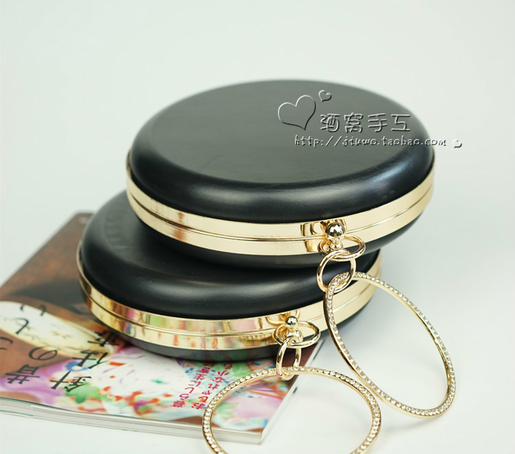 Bracelet Fund Round Mouth Golden Box Dinner Package Hand Take Package Can Put Plus Parts Rubber Box Delivery Paper Type Course