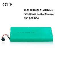 GTF 14.4V 4000mAh NI MH Cleaner Battery High Capacity Replacement Sweeper Battery For ECOVACS Deebot 540/550/560/570/580/D58/D56