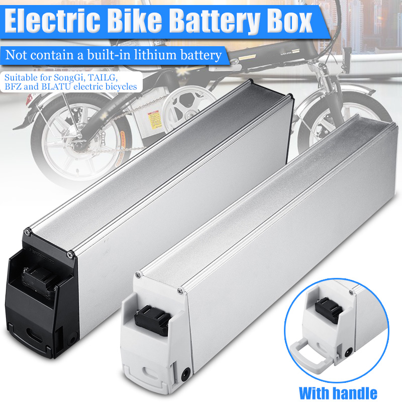 Outdoor E bike 48V 60V 18650 Lithium Battery Box Down Tube Electric Bike Battery Storage Box 410*110*63mm/ 470*110*63mm