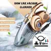 4-em-1 portátil aspirador de carro de vácuo portátil com digital pneu inflator bomba de pressão aspirador coche para uso automático molhado e seco