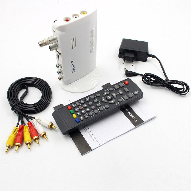 BEESCLOVER TV BOX ISDB-T Digital Terrestrial Converter TV BOX Receiver 1080P TV BOX For Any ISDB-T Countries  RCA Cable R60