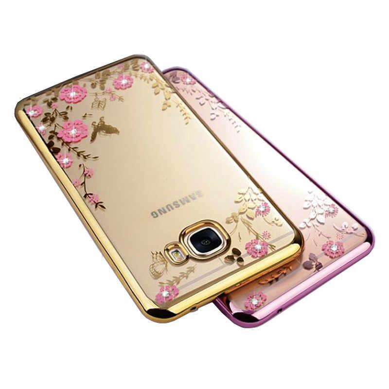 Dành cho Samsung Galaxy Samsung Galaxy S8 S9 Plus Note 9 8 A9 A7 A6 A5 A8 Plus J8 J7 J5 J6 J4 prime Plus 2018 Hoa Bling Kim Cương Silicone