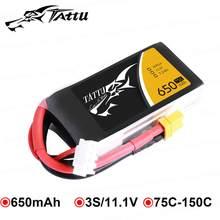 Аккумуляторная батарея Tattu 650mAh 11,1 V 3S 75C-150C Lipo с разъемом XT30 для моделей 130 размеров, зимняя домашняя FPV Racing
