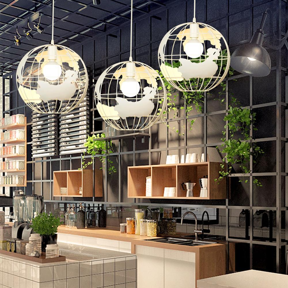 Image 3 - ZHAOKE Modern Global Earth Pendant Lights suspension luminaire for Living Room Restaurant Home Lighting Fixtures pendant lamps-in Pendant Lights from Lights & Lighting
