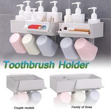 Toothpaste Squeezer Plastic Suction Cup Soap Toothbrush Box Holder Bathroom Placement Shower Home Storege Paste Extractor