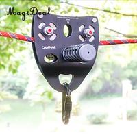 35KN Rock Climbing Mountaineering 13mm Cable Rope Pulley with Handle Grip