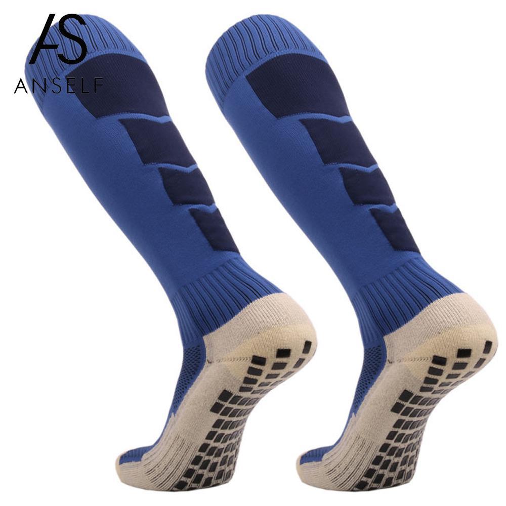The Cheapest Price Anti Slip Mens Male Football Socks Soccer Sports Running Long Stockings Leg Compression Stretch Knee High Thick Cotton Socks Underwear & Sleepwears
