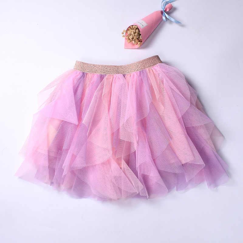 キャンディの赤ちゃんの女の子チュチュスカート子供ペチコートガール王女チュールスカートカラフルな夜会服のスカート子供服