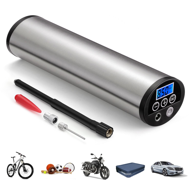 150PSI portable gonfleur électrique Portable voiture vélo pompe à vélo Auto compresseur d'air pompes à vélo avec écran LCD rétro-éclairé