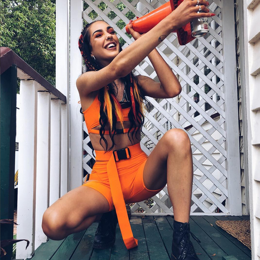 NORMOV sexy 2 piece set women shorts and topsummer clothes for women 2019 women