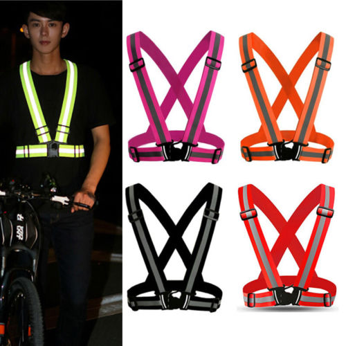 Contemplative Security Outdoor Night Safety Reflective Vest Belt High Stripe Straps Night Running Jogging Biking Back To Search Resultsapparel Accessories