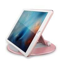 durable aluminum alloy Universal Desktop Tablet Holder Mount Phone Holder Aluminum Alloy Round Stand Durable For IPad Pro Adjustable #1122 (1)