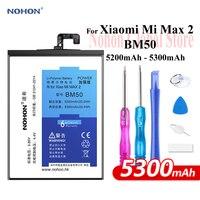 Nohon pil Xiao mi Max 2 BM50 5200mAh 5300mAh yüksek kapasiteli telefon ı ı ı ı ı ı ı ı ı ı ı ı ı ı ı ı ı ı ı ı polimer Bateria + için ücretsiz araçlar mi Max 2 Max2 pil