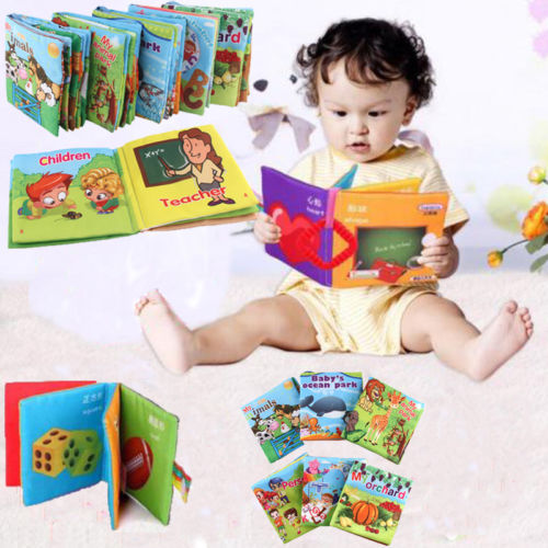Newborn Baby Intelligence Development Cloth Bed Cognize Books Educational Toys Baby