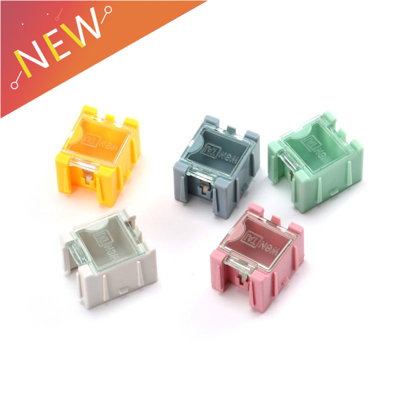 5pcs SMD SMT Electronic Component Container Mini Storage Boxes Kit