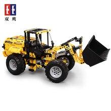 Cada Double E 491Pcs 2.9KM/H Wheel Loader Bulldozer Excavator Remote Control Car Building RC Blocks Bricks Technic Series