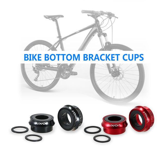 Lixada Estrada Da Bicicleta Da Bicicleta Ciclismo Copas Pedaleiro Press Fit Cerâmica Liga de Alumínio 66mm/72mm BB Copos conjunto de manivela Rolamento
