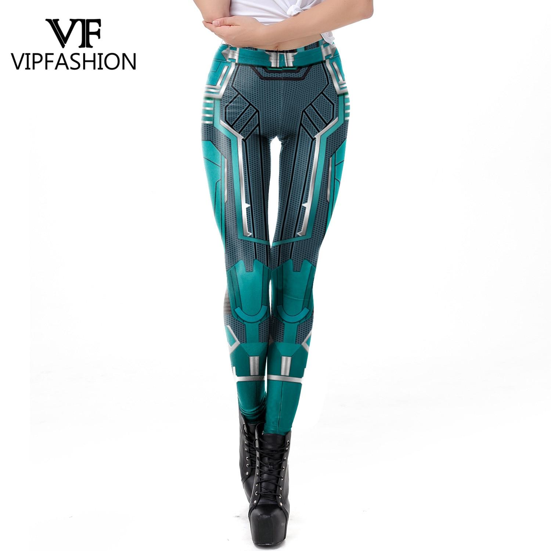 VIP FASHION 2019 3D Captain Marvel Printed Leggings Women Workout Fitness Legging Super Hero Movie Legings Plus Size Fitness Price $8.99