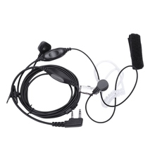 Covert Acoustic Tube Earpiece Headset Mic With Finger Ptt For Kenwood Puxing Baofeng Uv-5R Uv-5Ra 888S H777 Rt7 Walkie Talkies