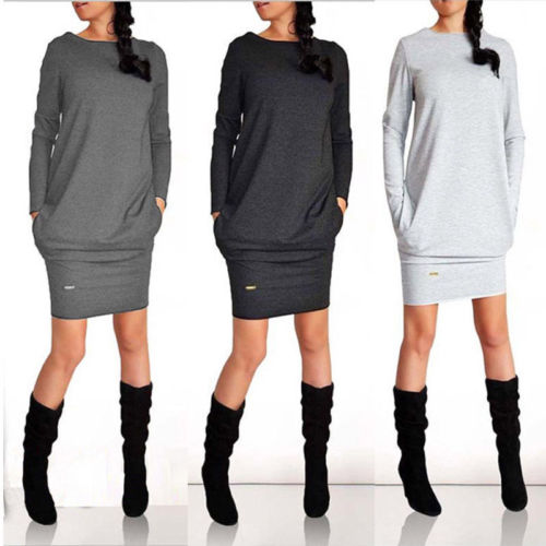 New 2020 Women Summer Autumn Sexy Casual dress Fashion elegent Black Dress Vestidos Long Sleeve Dress