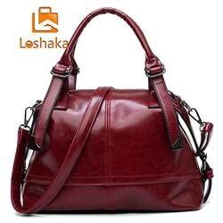 Loshaka Винтаж Для женщин Сумки Высокое качество кожа Повседневное сумка роскошный плеча Курьерские сумки дизайн Для женщин сумка Sac основной