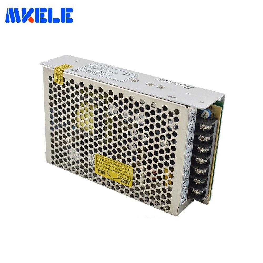 T 60A тройной выход 110/220VAC переключение Питание 5/12/5 V 60 Вт для Светодиодные ленты света Вход 5A 2.5A 0.5A Быстрая доставка