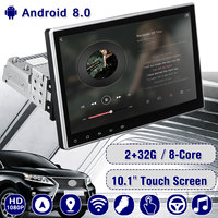 Car Multimedia Player 10.1 2G+32G for Android 8.0 Car Stereo 1DIN 8 Core bluetooth WIFI GPS Nav Quad Core Radio Video MP5 Player