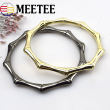 Meetee 2pcs=1pair 9cm Width Metal Bag Handle O Ring Strap Luggage Hardware Accessories DIY Leather Craft