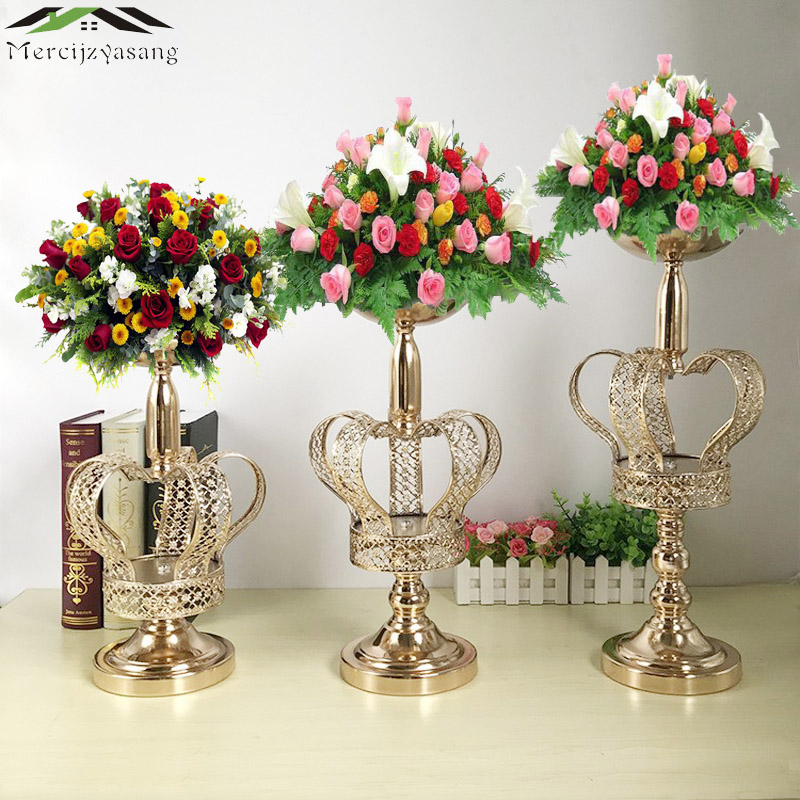 Home & Garden Latest Collection Of Wedding/table Centerpiece Diy Flower/floor Vases/pot Stand Metal Road Lead Flower Rack For Wedding/party/home Decoration G04201 Event & Party
