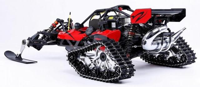 1/5 Rovan ROFAN Baja 5B Snowmobile Tracked Vehicle Snow Racing 30.5CC Gasoline Engine Symmetrical Steering 2WD RC Truck