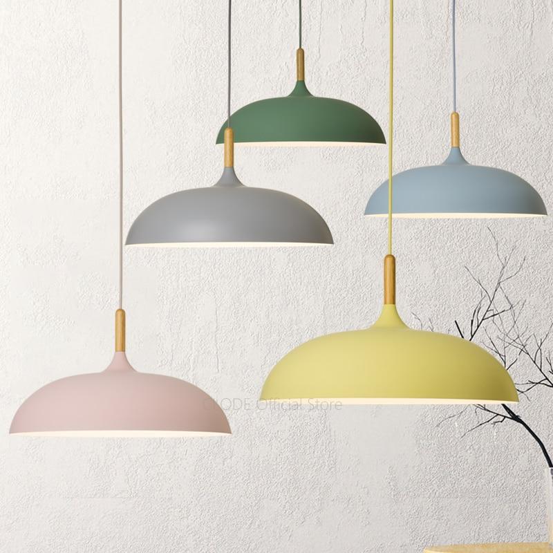 Minimalist bedroom Colorful Nordic Lamp shades decorate macaron pendant lights for restaurant or living room AC110V/220V E27Minimalist bedroom Colorful Nordic Lamp shades decorate macaron pendant lights for restaurant or living room AC110V/220V E27
