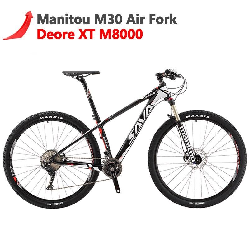 Sava Deck700 Hommes VTT Vtt Carbone fibre VTT 29 Vtt Vélo Avec Shimano Xt M8000 Vélos de Montagne Vtt