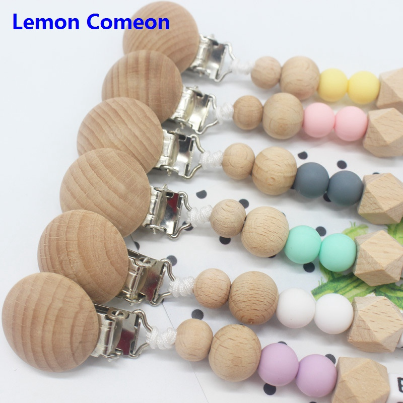 Lemon comeon 1PC Silicone Baby Pacifier Clip DIY Personalised Name BPA Free Teething Toy Pacifier Chain Chew Toy Dummy Clips in Pacifier from Mother Kids