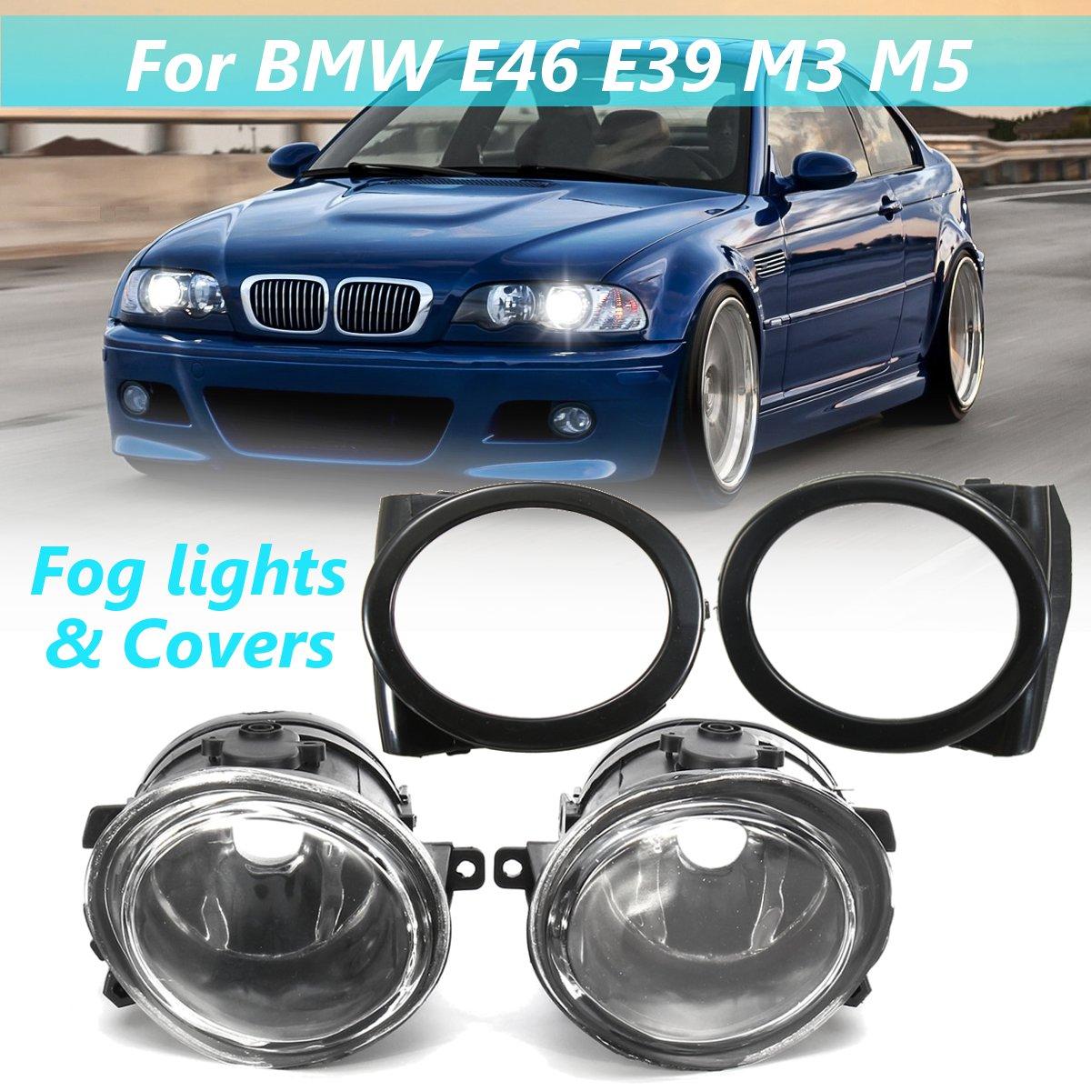 Pair 12V Fog Light Assembly Car sport foglamps foglights fogs for BMW E46 E39 M Sport M3 & M5 1998 1999 2000 2001 2002 2003 2004Pair 12V Fog Light Assembly Car sport foglamps foglights fogs for BMW E46 E39 M Sport M3 & M5 1998 1999 2000 2001 2002 2003 2004