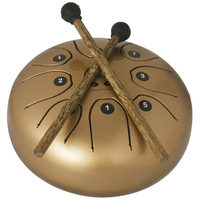5.5 Inch Steel Tongue Drum Set Music Instrument with Drumsticks Percussion Instruments Durable Metal Drum with Carring Bag