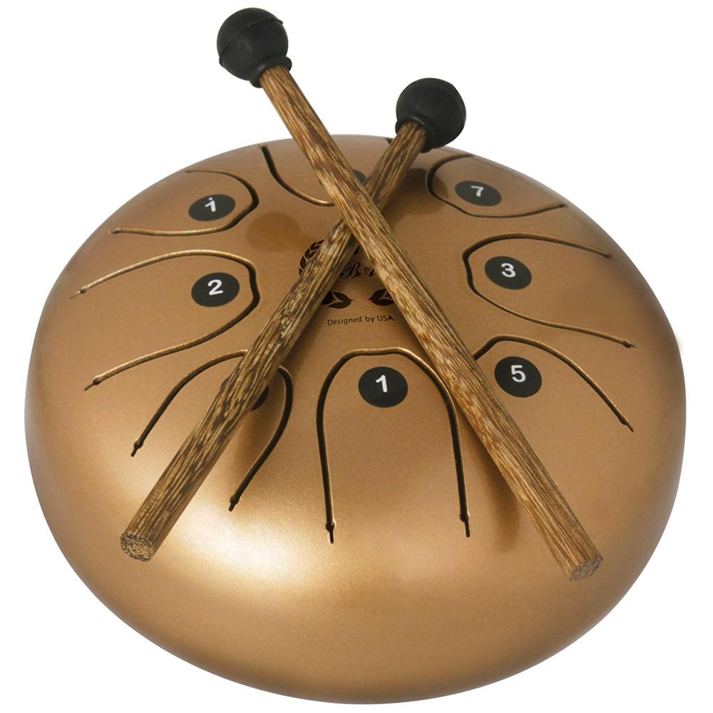 5.5 pouces en acier langue tambour Set Instrument de musique avec baguettes Instruments de Percussion Durable tambour en métal avec sac de transport