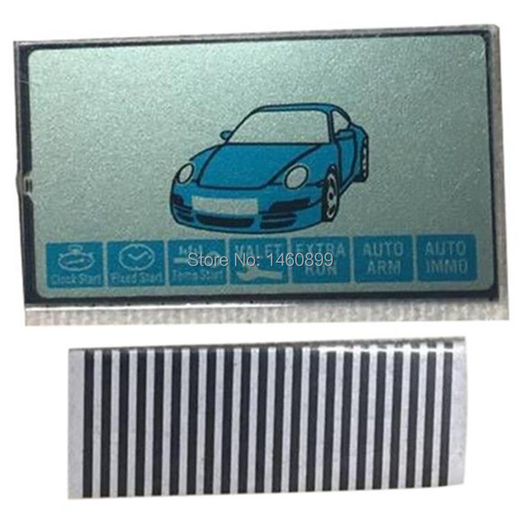 Wholesale B9 Zebra Paper + B9 LCD Display For Russian Keychain 2-way Starline B9 Lcd Remote Control Key Chain Fob