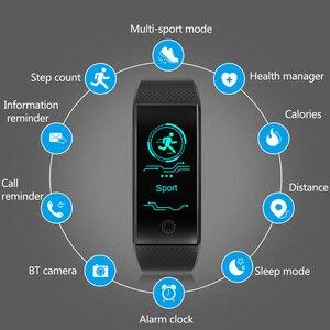 Image 2 - Pulseira inteligente ip68, à prova d água, monitor de freqüência cardíaca, sono, esportes, medidor de fitness, rastreador bluetooth, smartwatch.