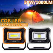 Solar Energy 50W/1000LM Portable Flashlight USB Port Camping Tent Light Outdoor Portable Hanging Lamp COB LED lamp Worklight(China)
