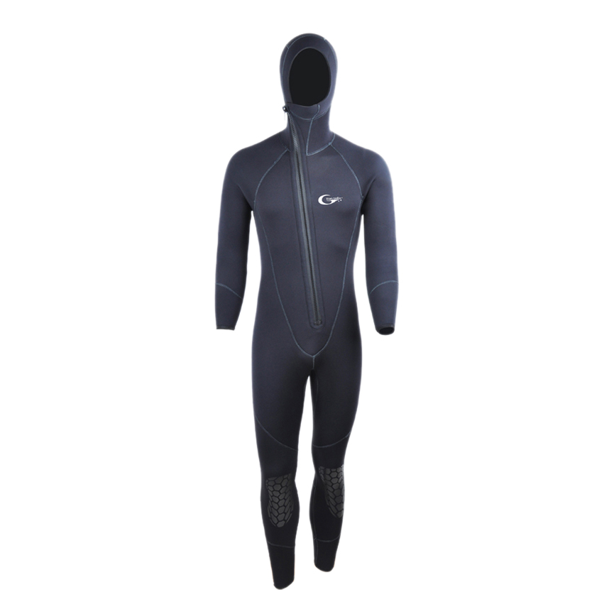 Yon Sub FSTE Winter Warm Neoprene Scuba Diving Wetsuit 5mm Men Hood Surfing Front