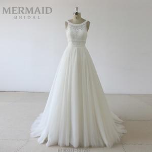 Image 1 - Backless heavy beading lace wedding dress 2019