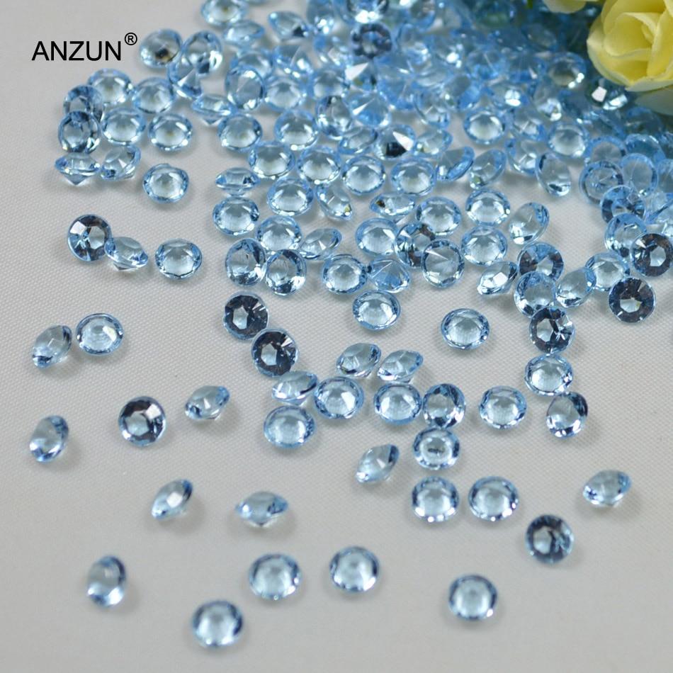 1000 шт 6 мм Акриловые Алмазные конфетти Свадебная вечеринка Разбрасыватели конфетти для стола украшения кристалл