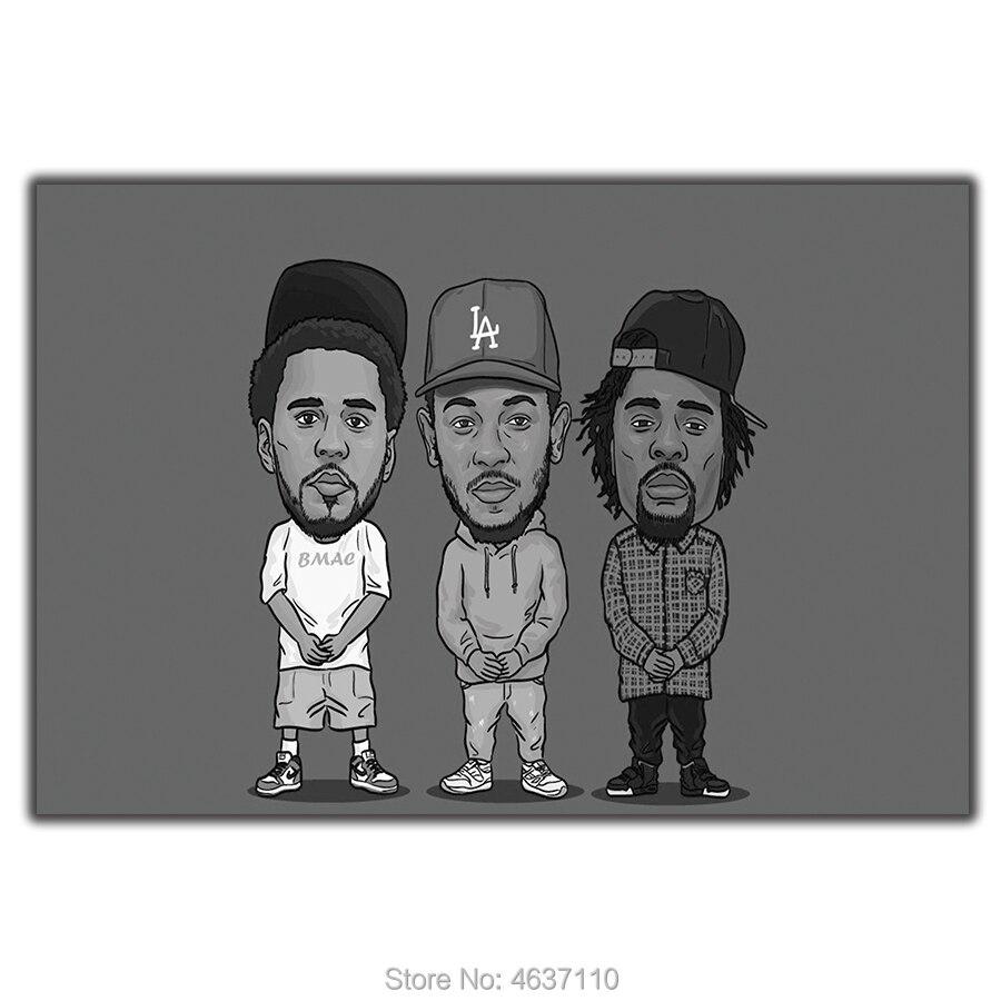 J Cole Rap Raper Hip Hop Music Star Singer Artist Forest Hills Drive Custom Album Cover Rap Music poster wall art deco 24x36inch