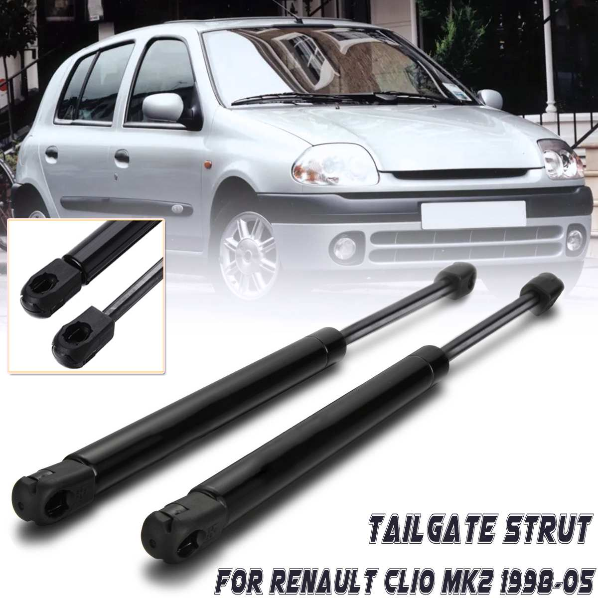 2 PCS Rear Hood Lift Supports Shocks Gas Spring for 05-10 Scion TC 14