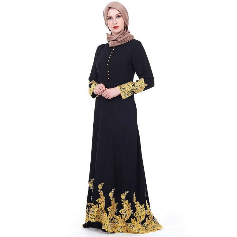 Abaya dubai robe musulmane ramadan islamique vêtements Fleurs abayas pour femmes islam hijab robe caftan abaya Dentelle caftan marocain