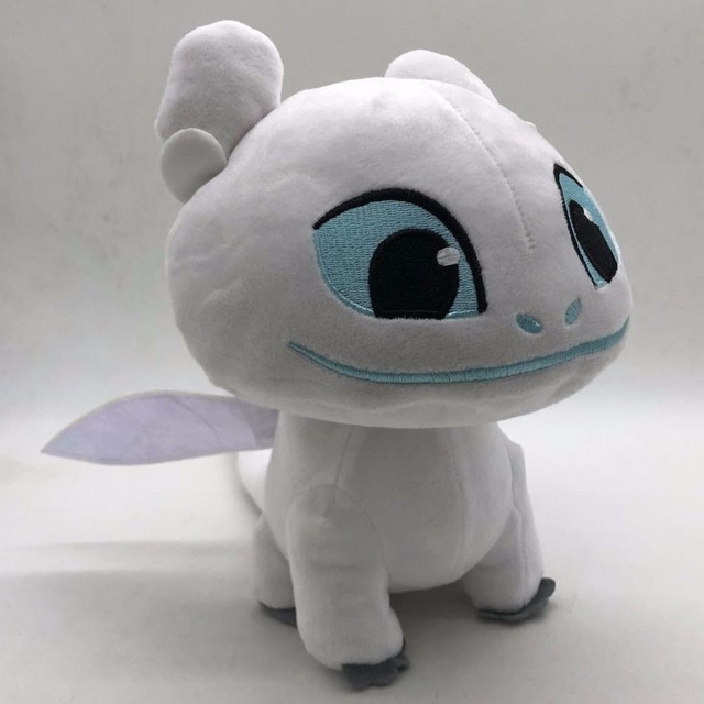 2019 3 Luz Quente Como Treinar O Seu Dragão Desdentado Fúria da Namorada do Dragão Branco 18 centímetros Macio Animal de Pelúcia boneca Brinquedos Para As Crianças