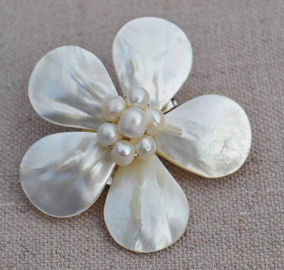 Bros Mutiara, Shell Bros Bunga Bros Pernikahan Pesta Bridesmaid Hadiah Perhiasan Mutiara Gratis Pengiriman