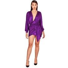 MUXU Purple sexy vestido long sleeve kleider fashion sukienka short dress clothes party plus size streetwear frocks jurken